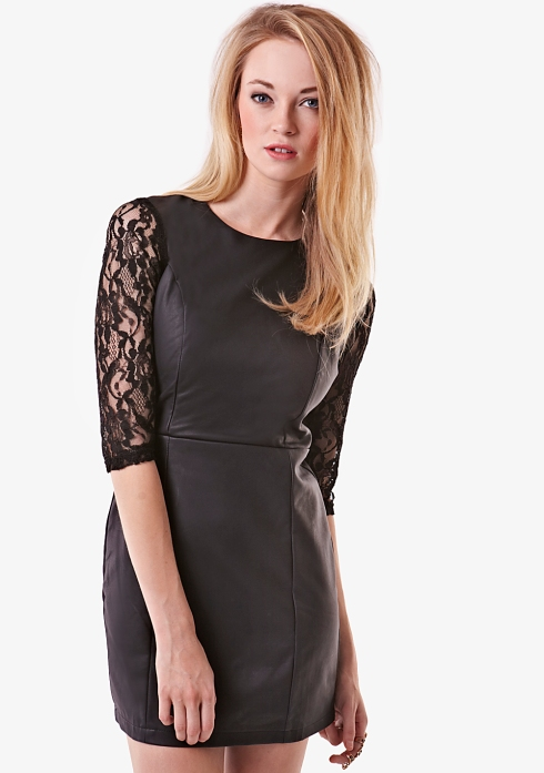 Fashion Union, lace PU dress, was £30 now £21