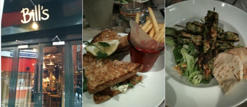 Bills Soho - Fish Finger Sandwhich - Chicken Skewer