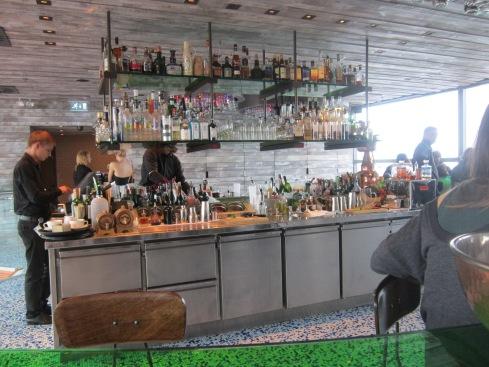 Duck & Waffle bar area