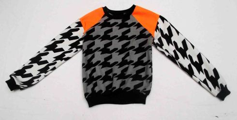 orange dogtooth sweat