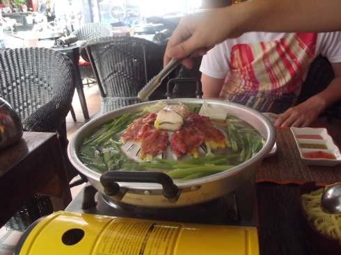 Snake and crocodile cooked in front of you - a Cambodian speciality