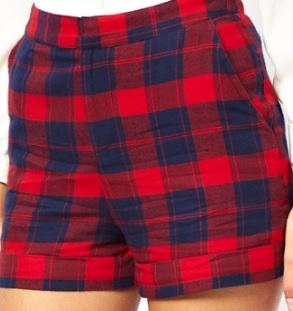 ASOS Tartan Shorts, £32