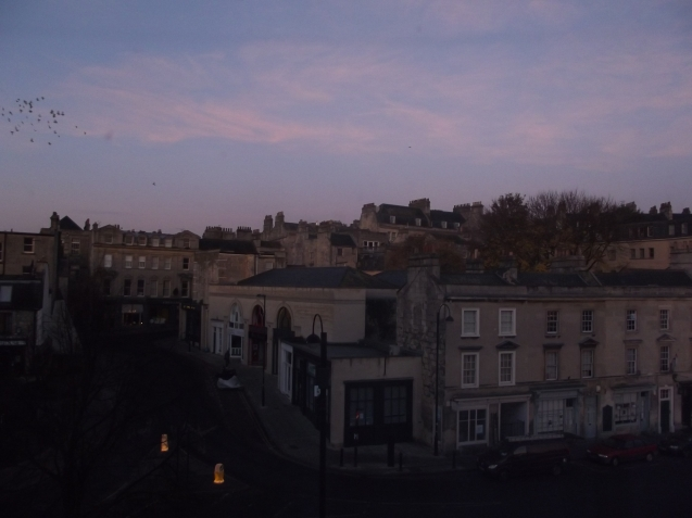 Bath sunrise from our hotel room