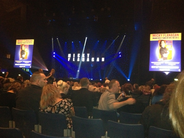 At Micky Flannagan's comedy show, Wembley