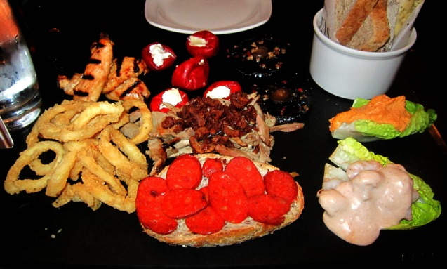 Browns sharing platter