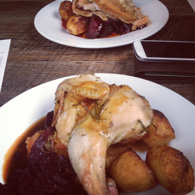 Roast dinner at the Cutty Sark Tavern