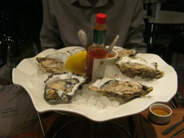 The Oysters with Tabasco Sauce