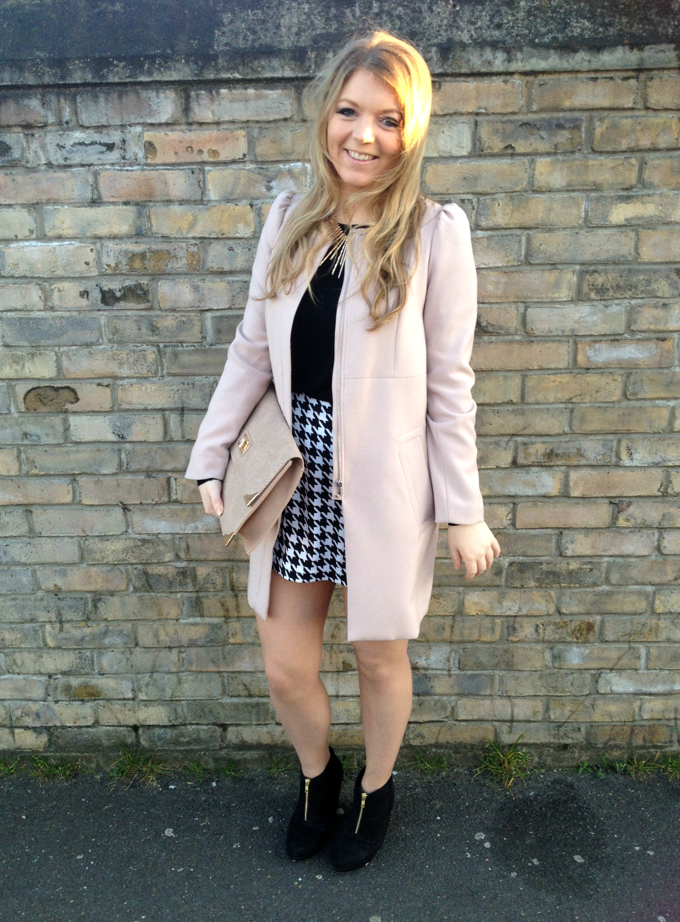 Powder Pink Coat | Down Coat
